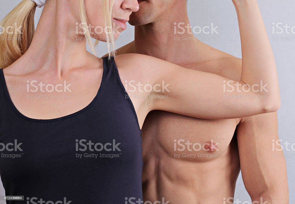 Laser hair removal for men and woman. Waxing treatment. stock photo