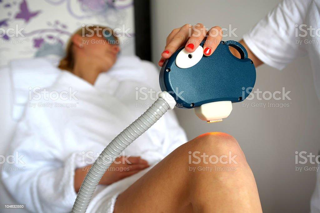 Laser epilation treatment royalty-free stock photo