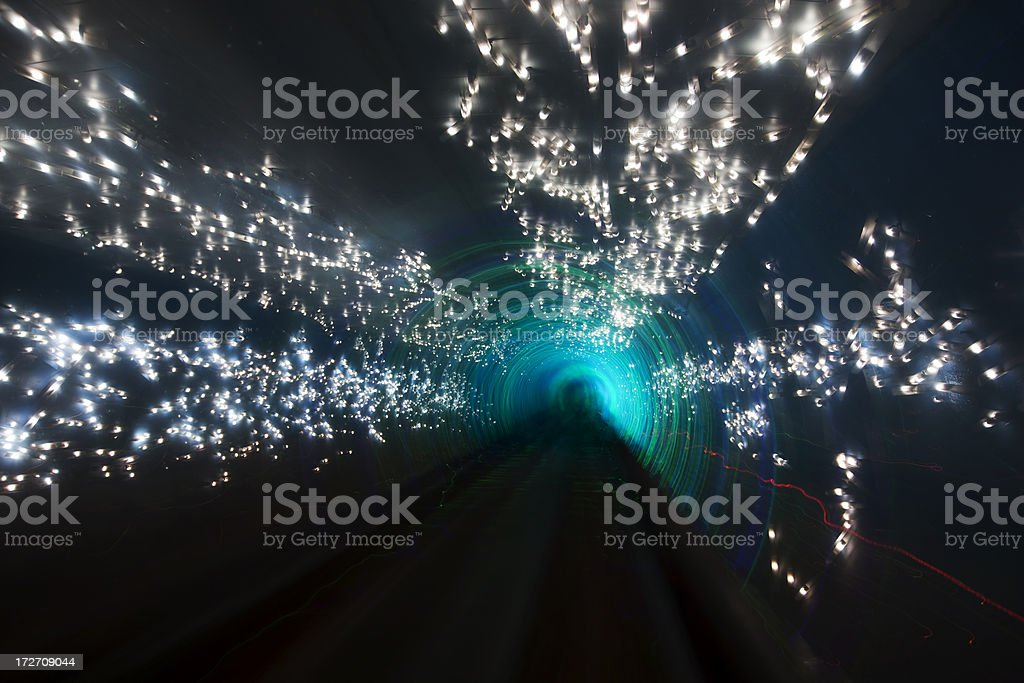 Laser In Tunnel royalty-free stock photo