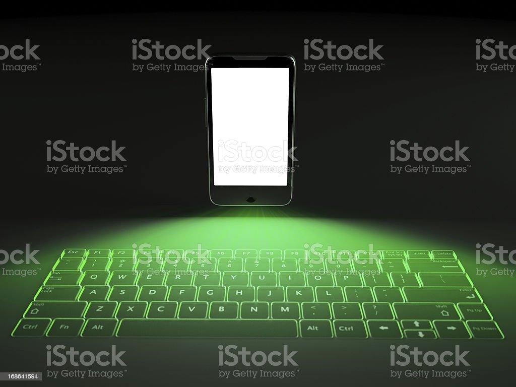 Foto De Laser Teclado De Telefone Celular E Mais Fotos De Stock De