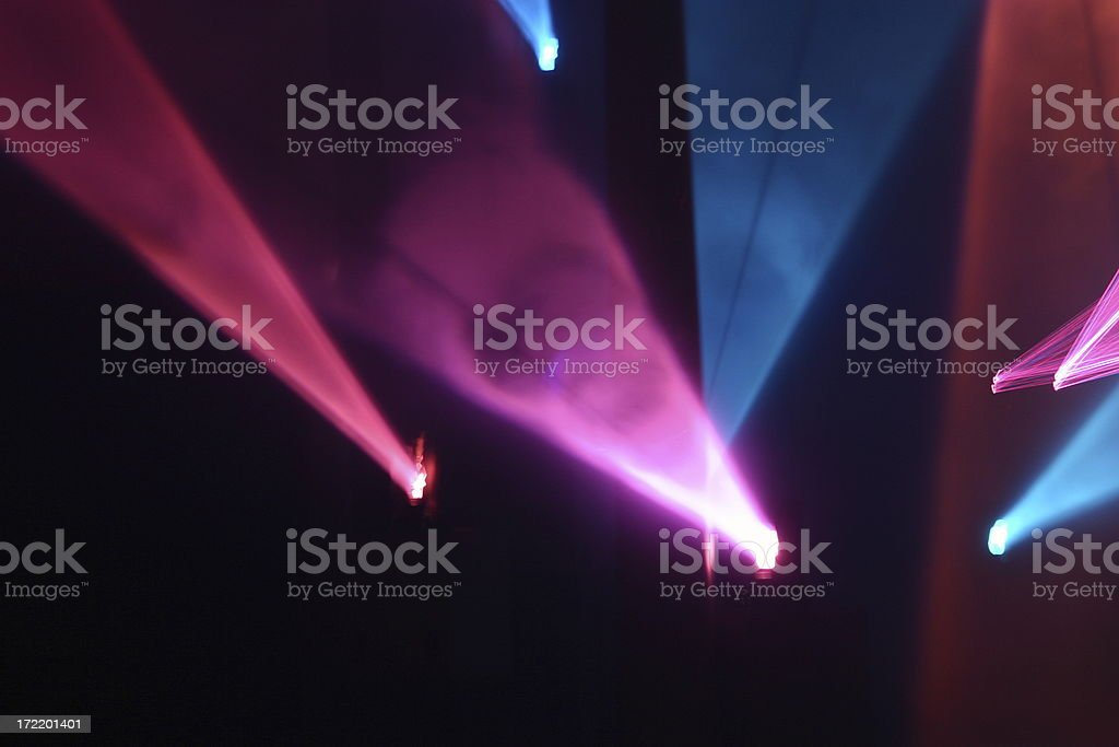 Laser Light Show 2 royalty-free stock photo