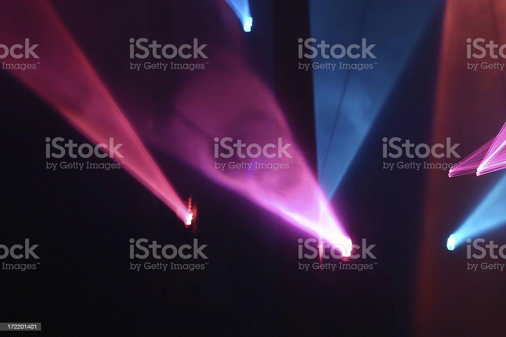 Laser Light Show 2 stock photo