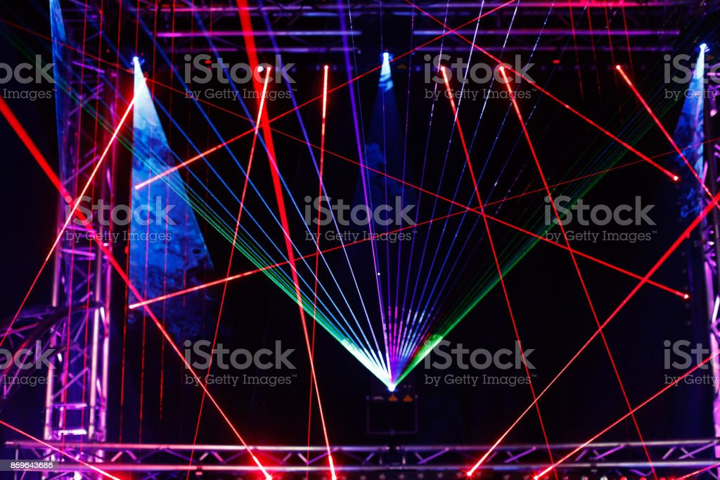 laser light show stock photo