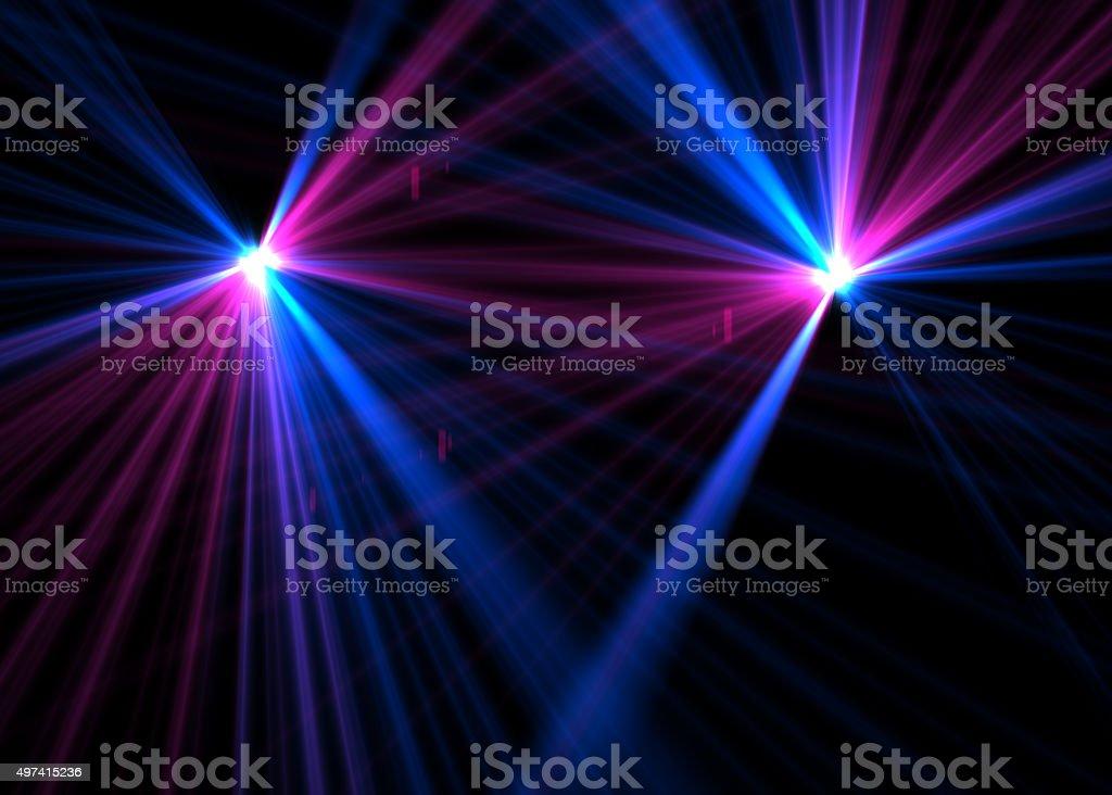 Laser lights stock photo