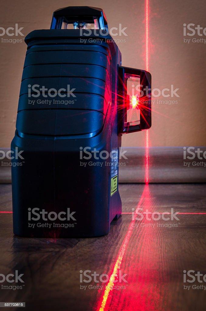 laser measurement stock photo