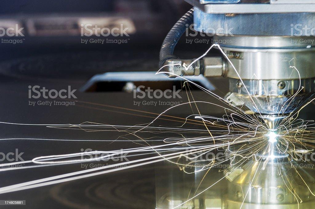 Laser, metal-cutting, CNC machine tool stock photo