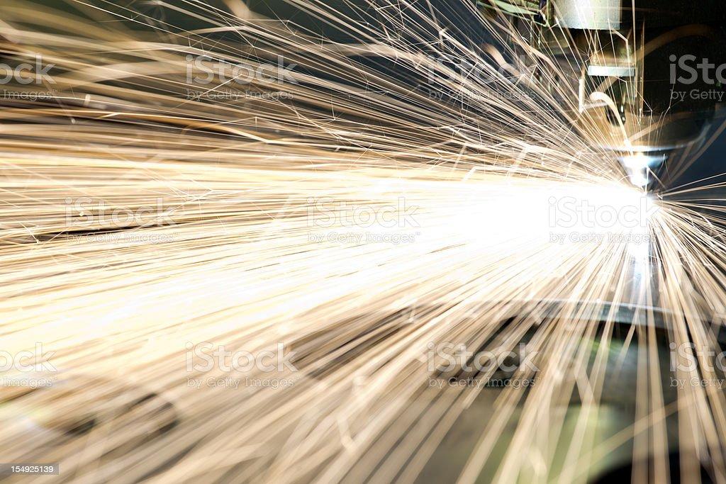 CNC laser metal-cutting tool stock photo