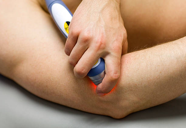 laser physical therapy - sports medicine stock pictures, royalty-free photos & images