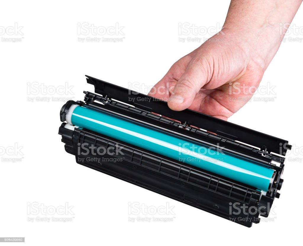 Laser printer cartridge stock photo