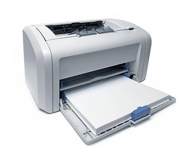 Laserdrucker auf einem weißen – Foto