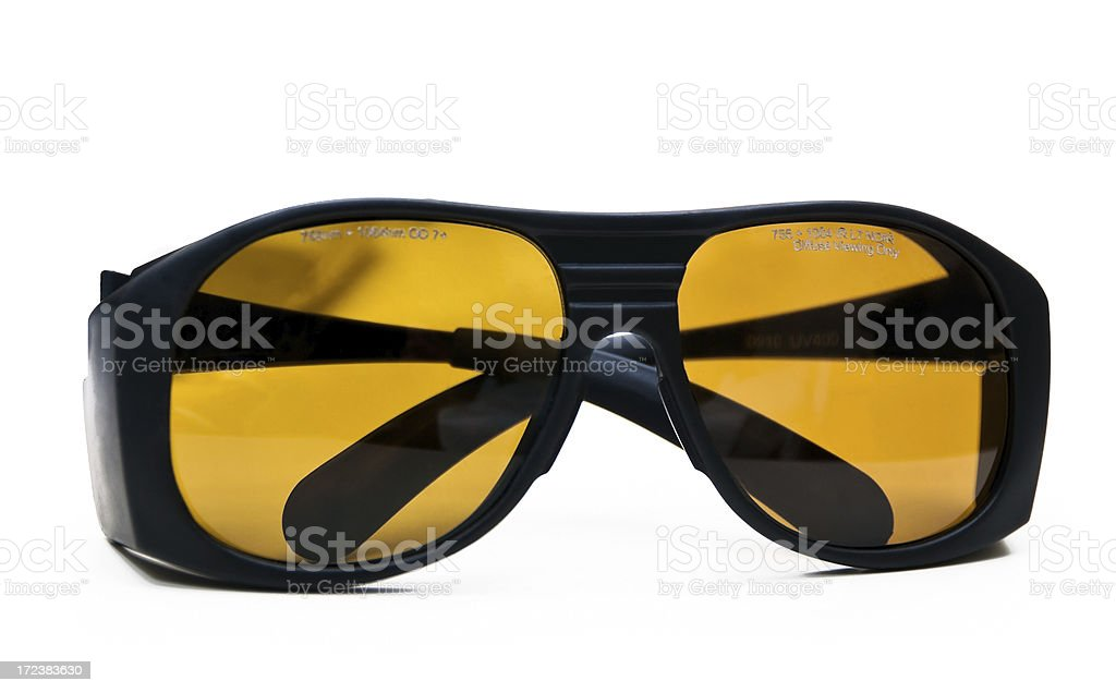 Laser Safety Glasses stock photo
