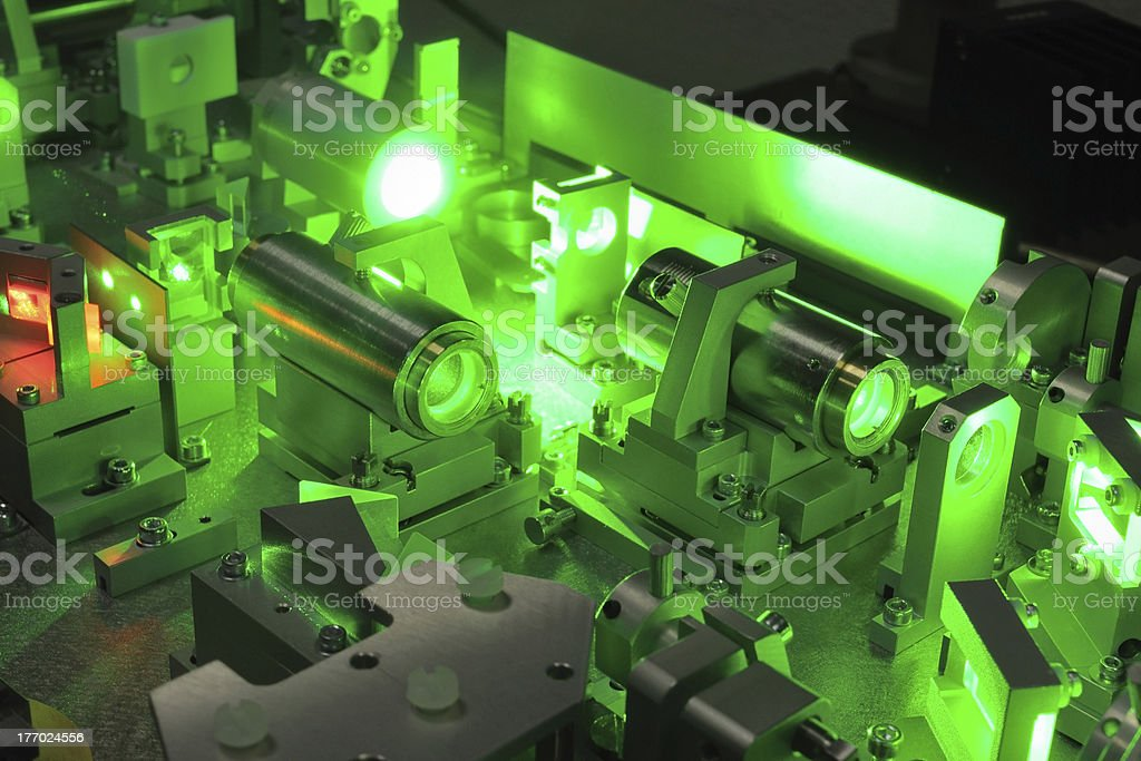 laser science royalty-free stock photo