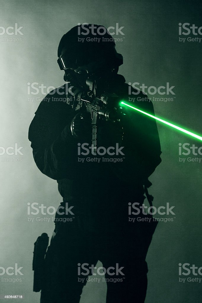 laser sights stock photo