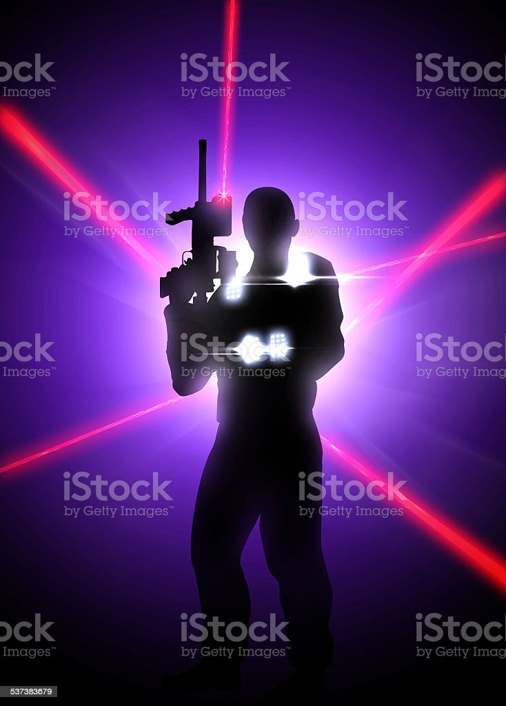 Laser tag background stock photo