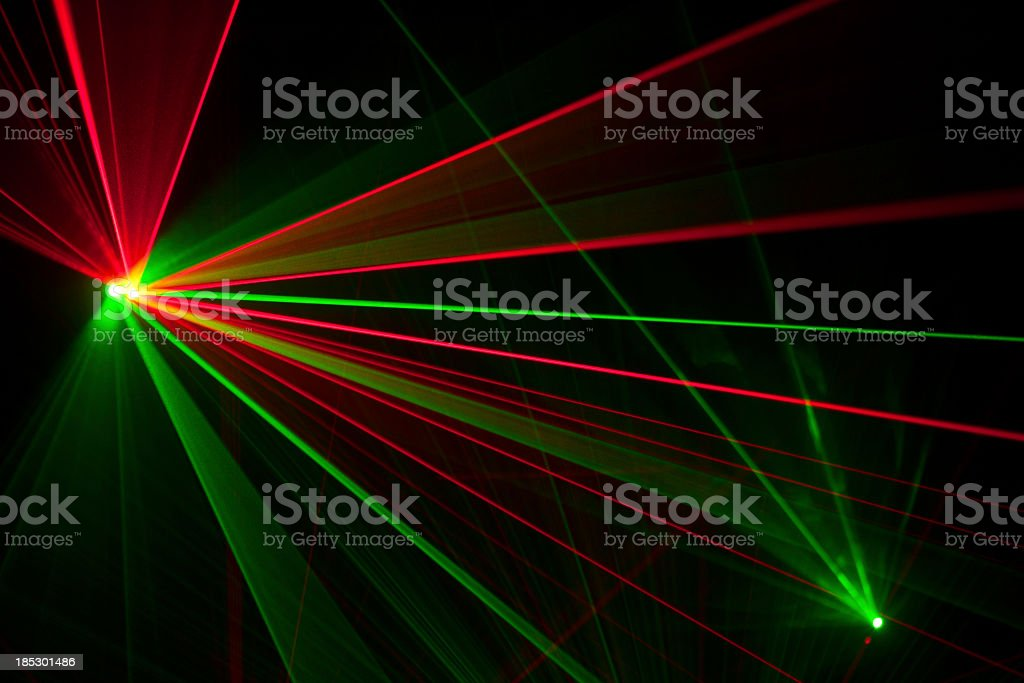 Laser trails stock photo