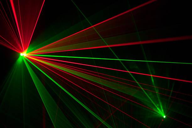 Laser trails stock photo