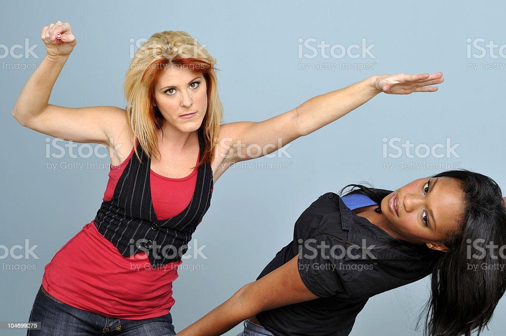 Laser Women stock photo
