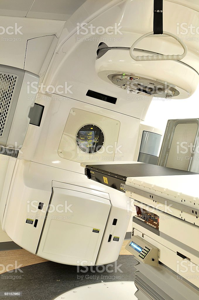 Lasercanon for treating cancer stock photo