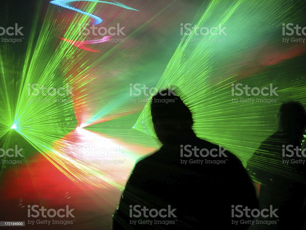 Laserpeople 01 royalty-free stock photo