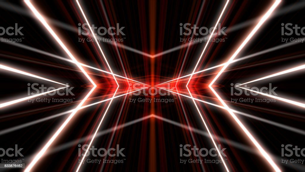 Lasers kaleidoscope stage visual loop for concert, night club, music video, events, show, fashion, holiday, exhibition, LED screens and projection mapping. stock photo