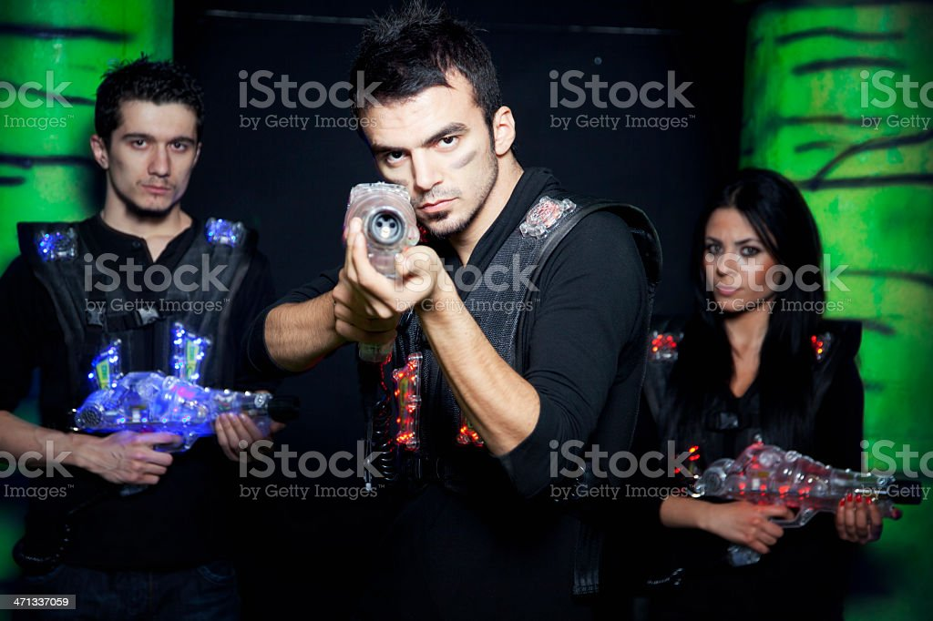 Lasertag Warriors royalty-free stock photo