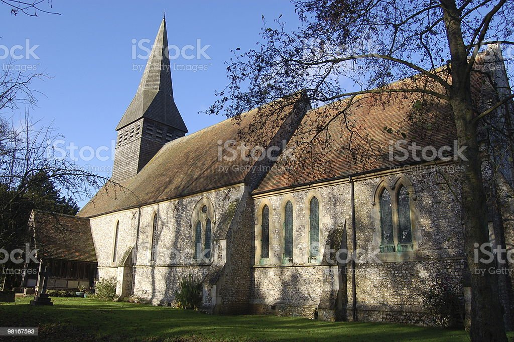 Lasham Parish Church, Hampshire royalty-free stock photo