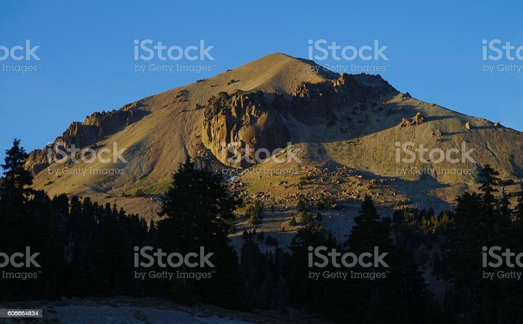 Lassen Peak Gold stock photo