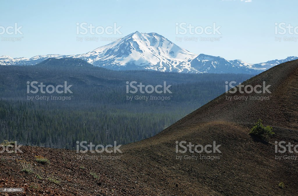 Lassen Peak, Lassen Volcanic National Park, California stock photo