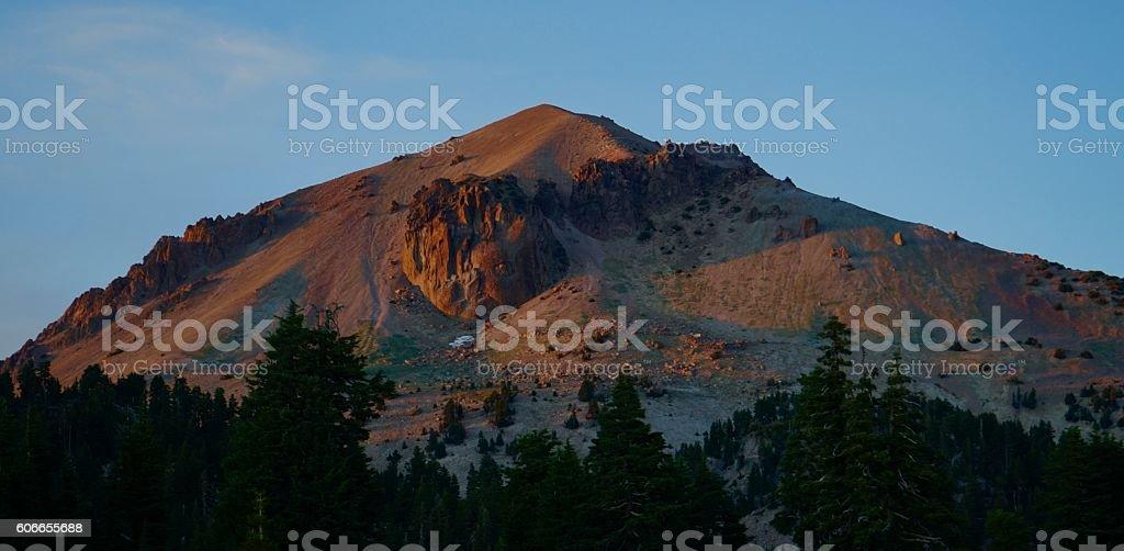 Lassen Peak Sunset stock photo