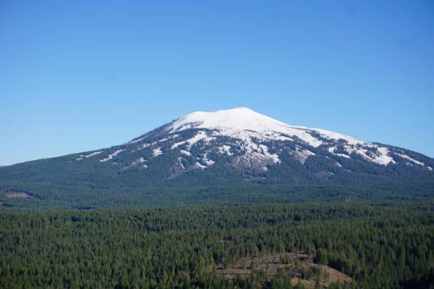 Lassen Peak Volcanic National Park stock photo