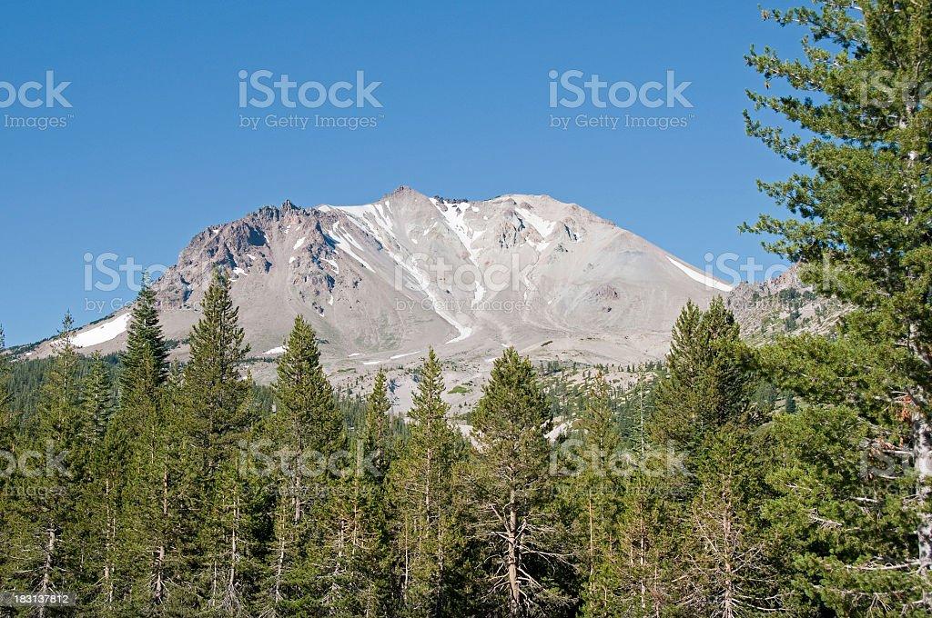 Lassen Peak volcano, California stock photo