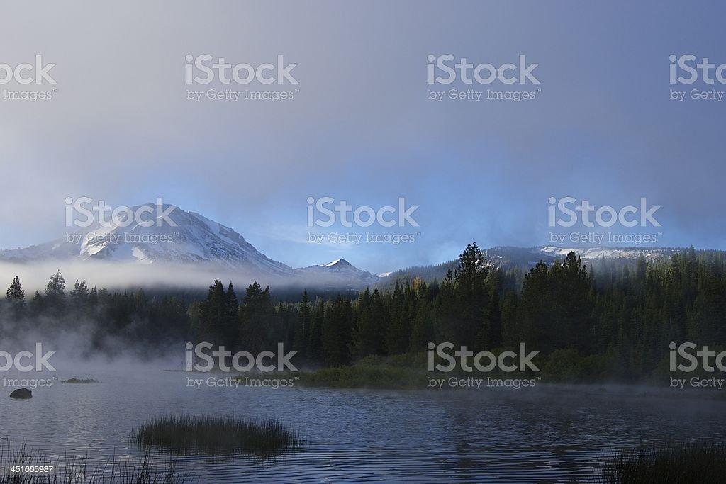 Lassen Peak's Natural Mystic stock photo
