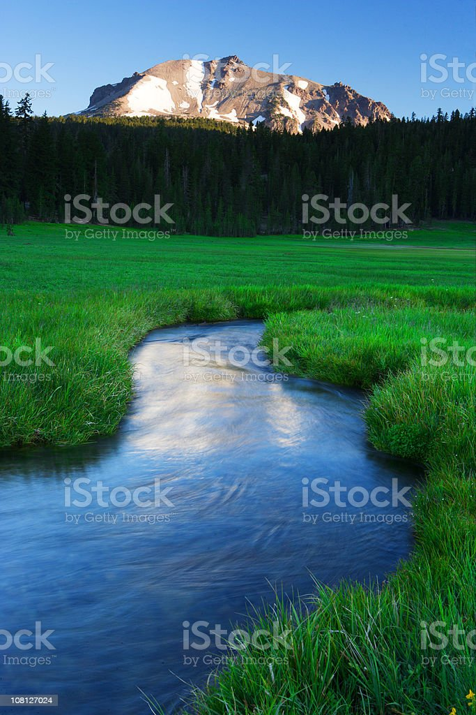 Lassen Reflections royalty-free stock photo