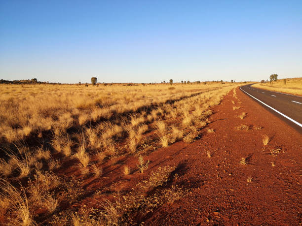 Lasseter Highway, Northern territory, Australia stock photo