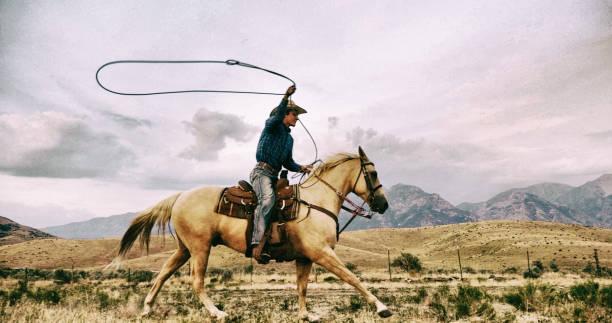 Lasso Cowboy stock photo