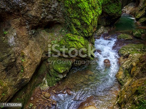 River flowing in Horma Canyon in Kastamonu Province, Turkey