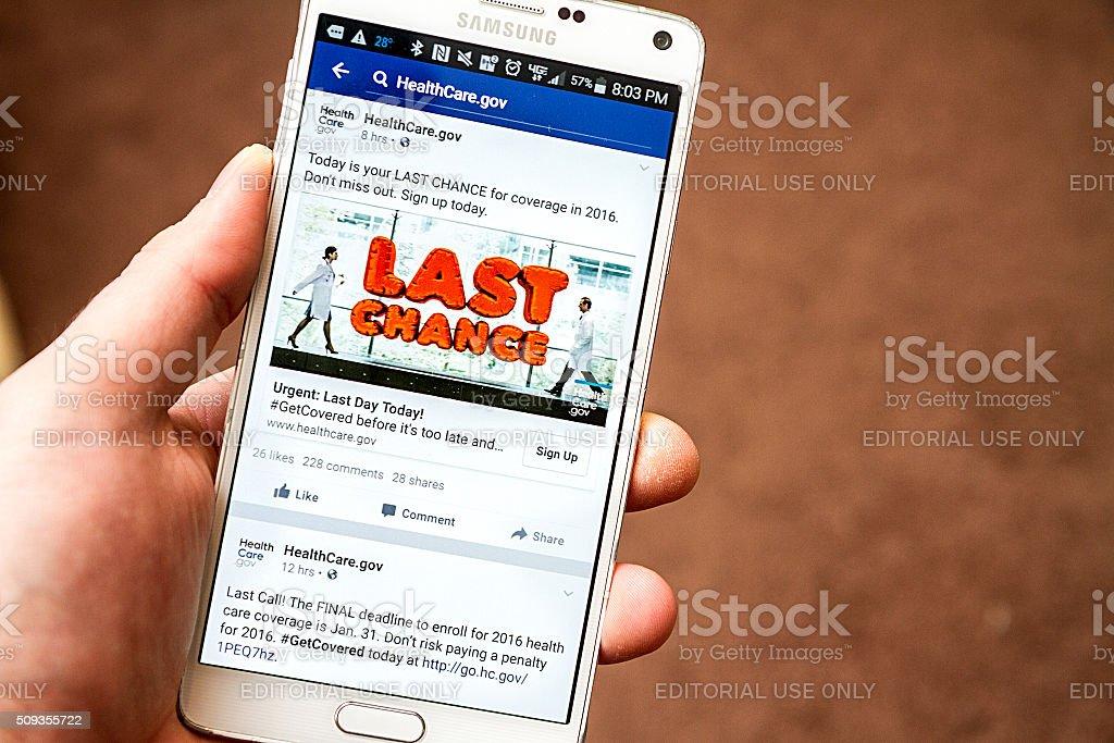 Last chance on facebook stock photo