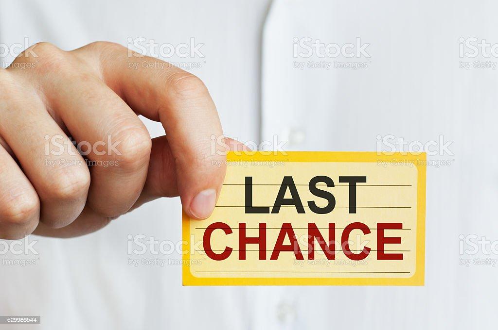 Last Chance stock photo