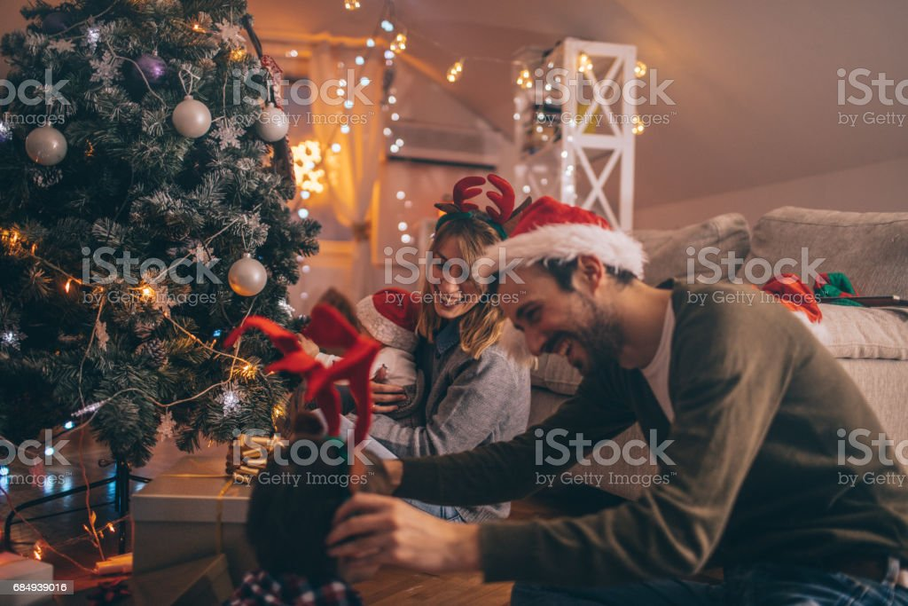 Letzten Weihnachtsvorbereitungen Lizenzfreies stock-foto