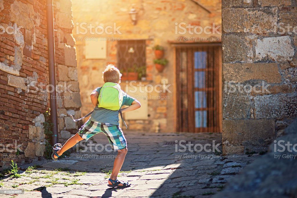 Last day of school, first day of vacations stock photo