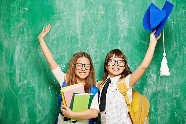 last day of school - liebeskind umhängetasche stock-fotos und bilder