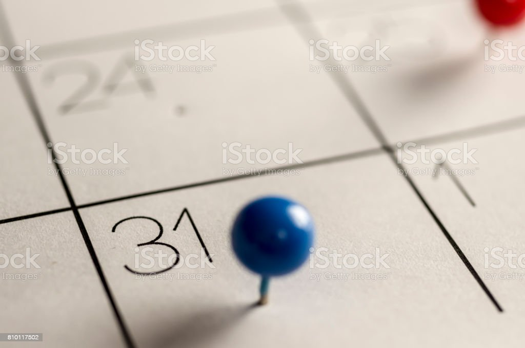 Last day of the month stock photo
