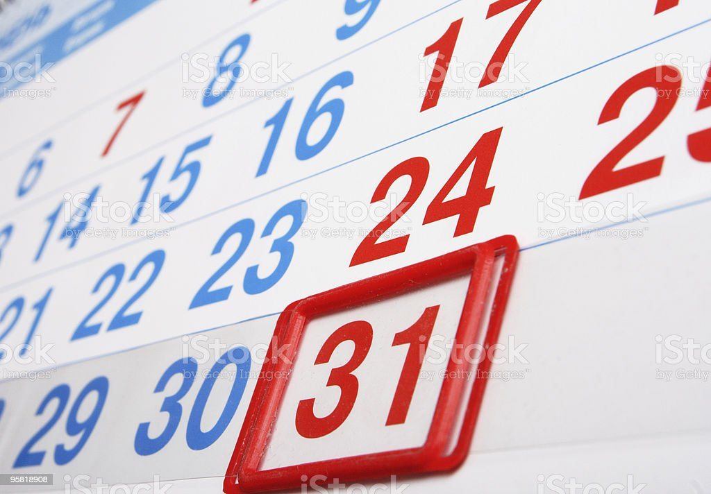 last day of the month royalty-free stock photo