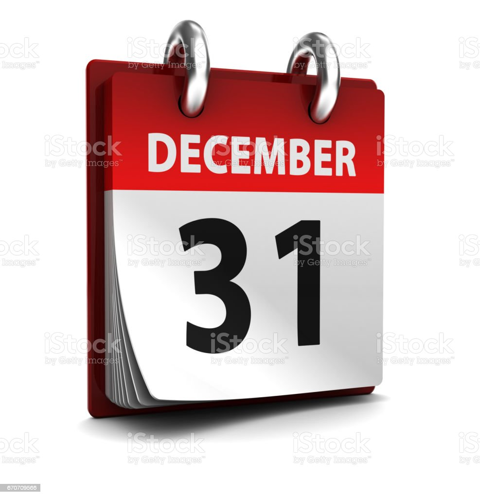last day of year stock photo