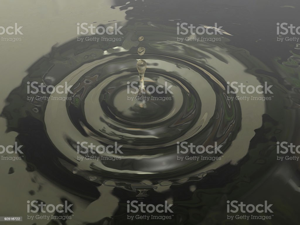 Last Drop of Oil royalty-free stock photo