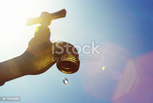 istock Last drop of water, symbolizing drought 917543550