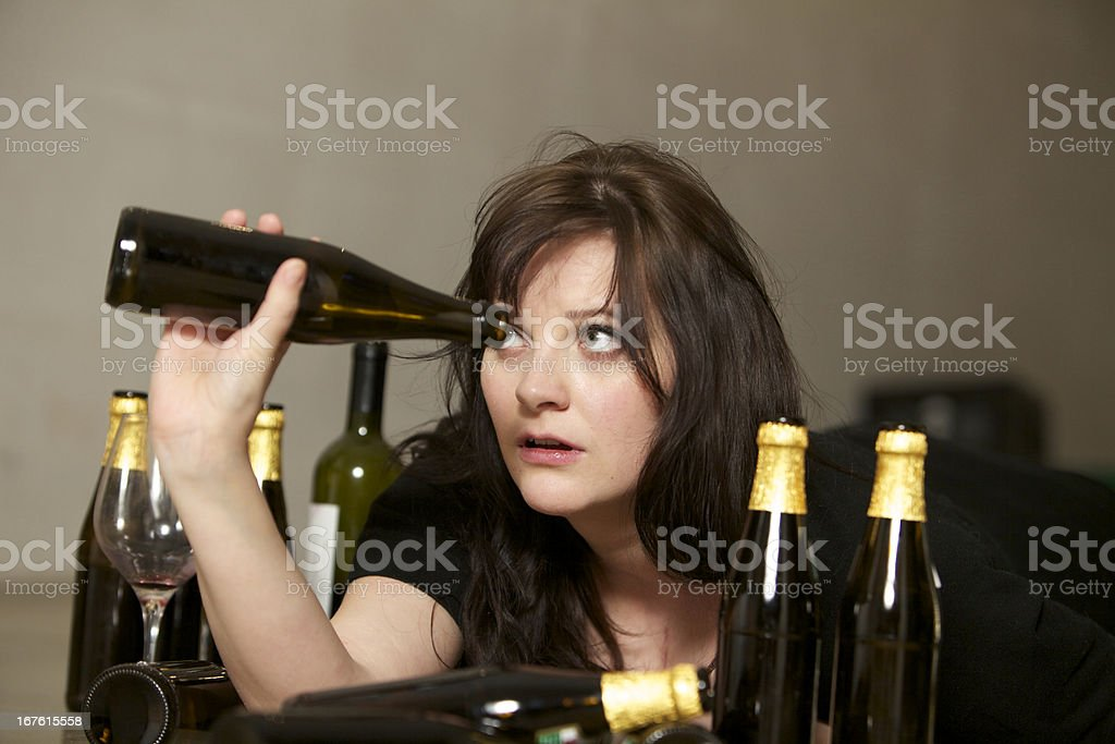 Last drops of alcohol royalty-free stock photo