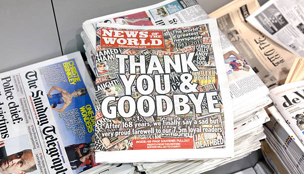Letzte Ausgabe News Of The World – Foto