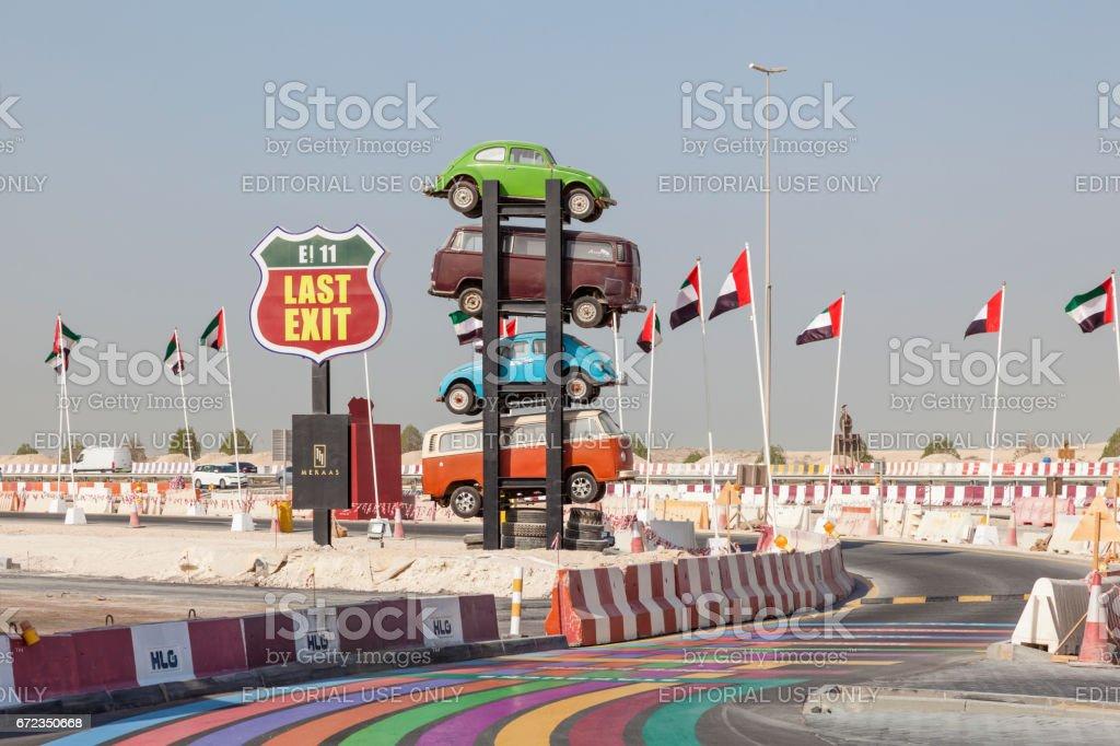 Letzte Ausfahrt Essen LKW-Park in Vereinigten Arabischen Emiraten – Foto