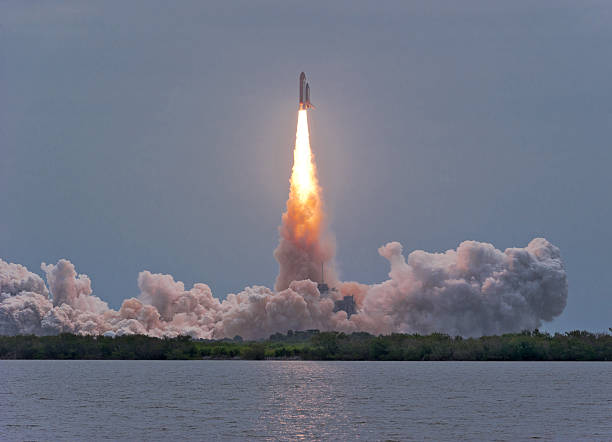 Last Flight of Space Shuttle Atlantis stock photo